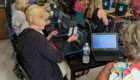 Teachers learn about QR code logins