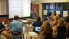 Teacher leads professional development session