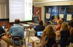 Teacher leads professional development session