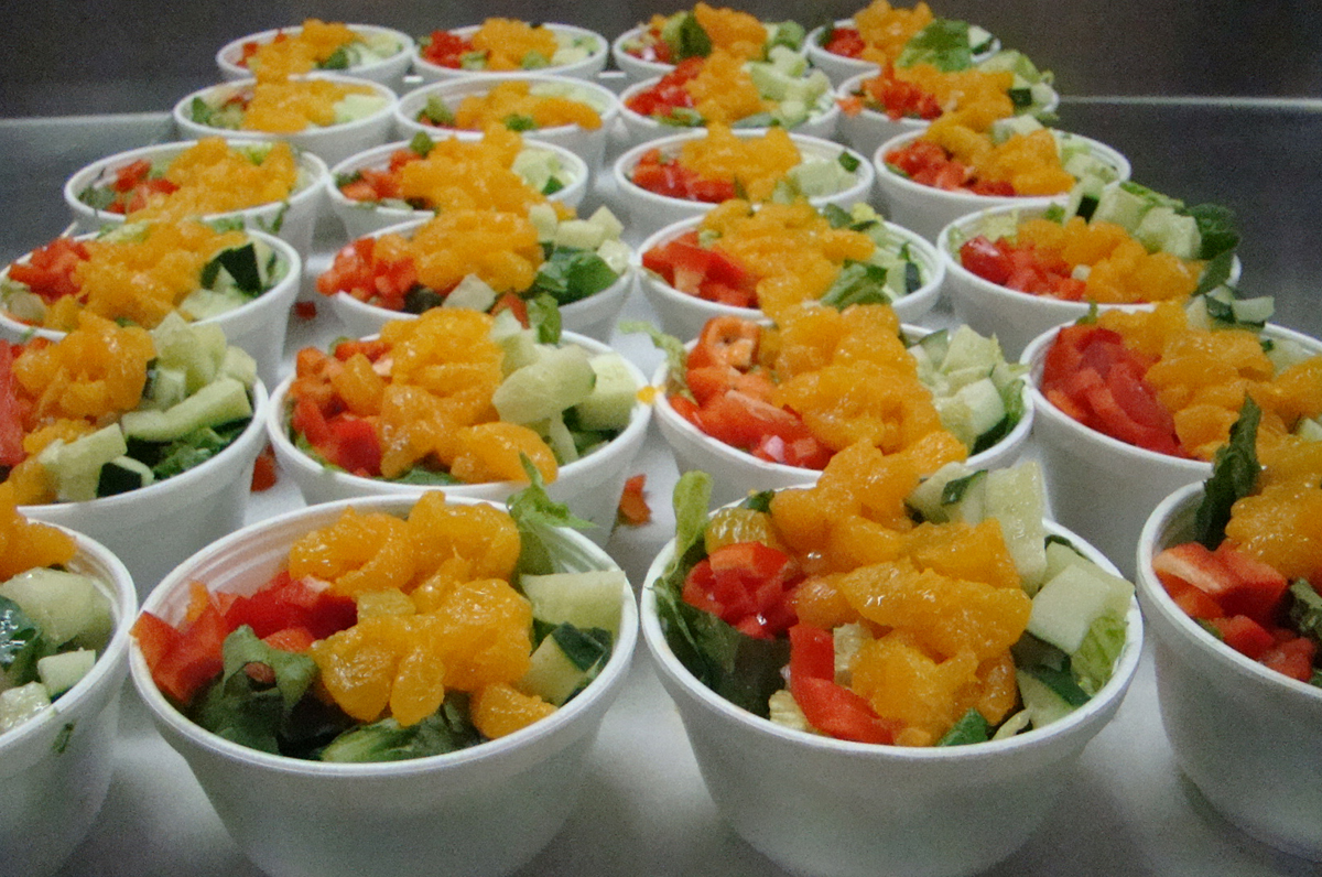 Mandarin orange and fresh romaine salad