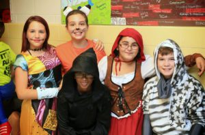 Students at Goff Halloween Happening