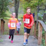 Students running in Barrett Memorial Run