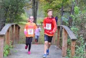 Students running in Barrett Memorial Run