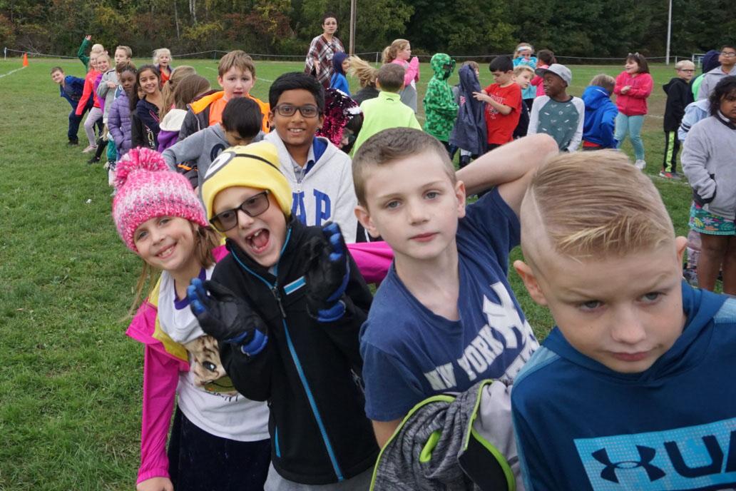 Students at the Genet Fall Fun Run