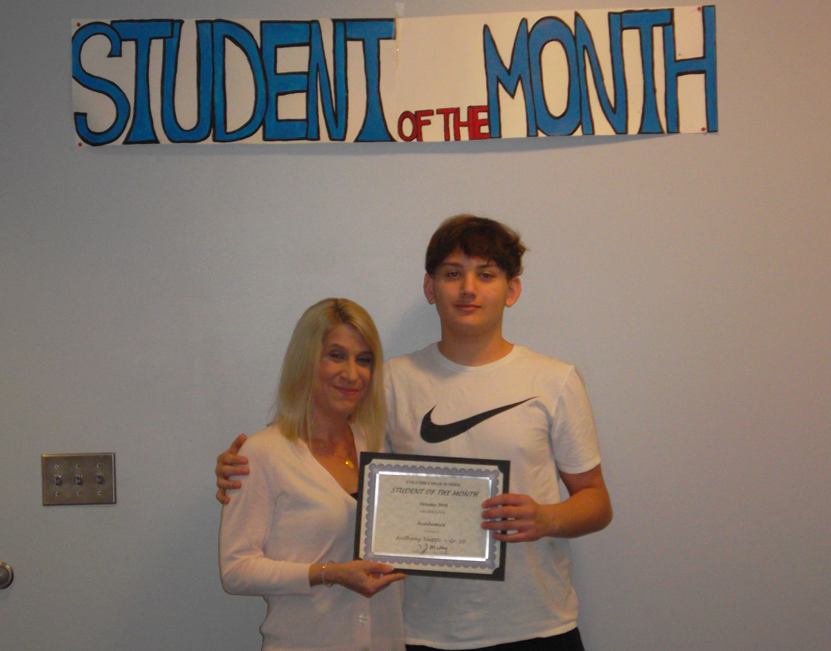 Anthony Nappi - Student of the Month