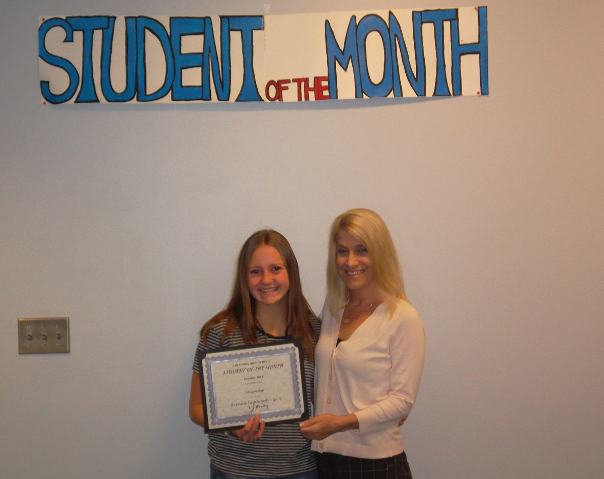 Brenna Sambrook - Student of the Month