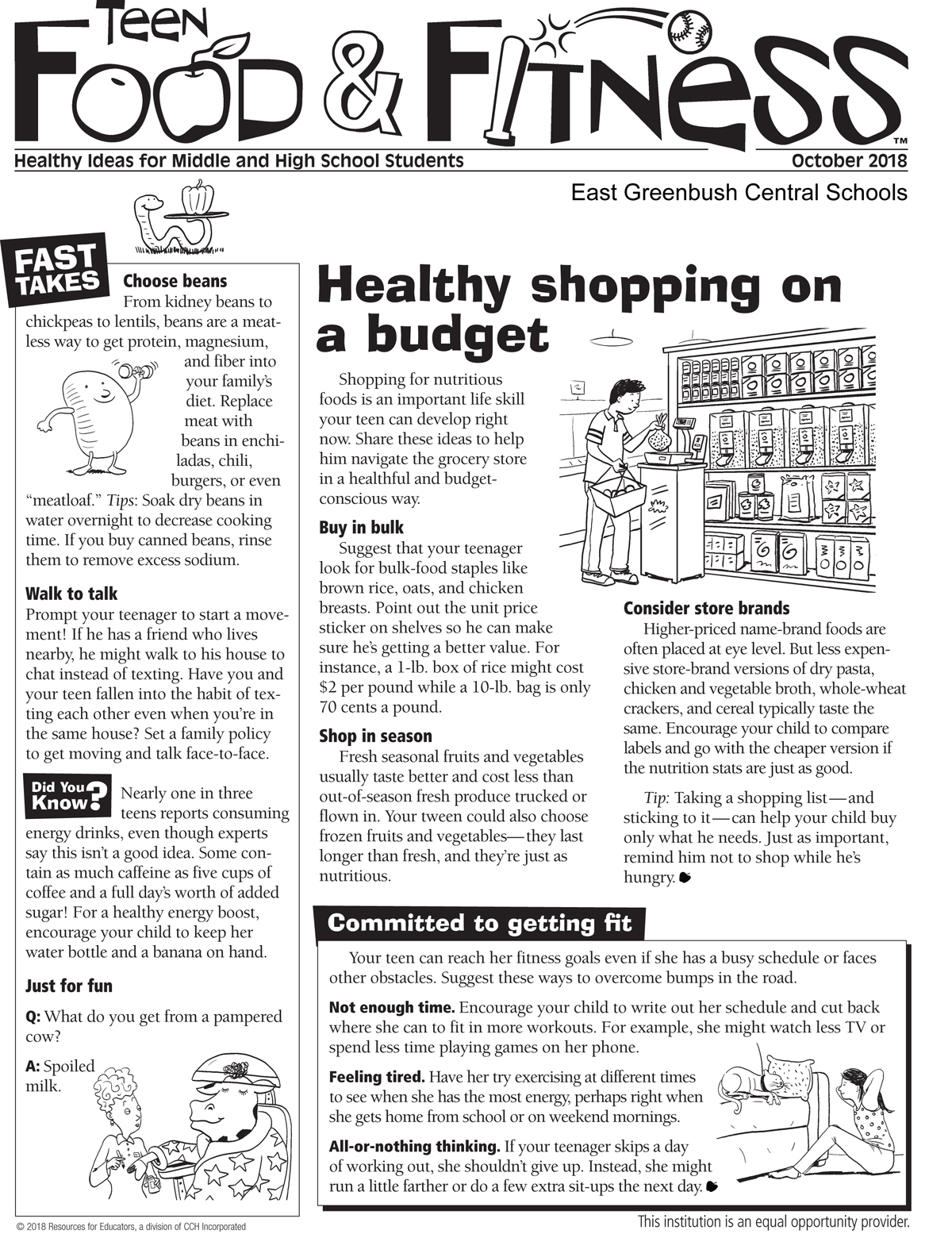 Food and Fitness newsletter