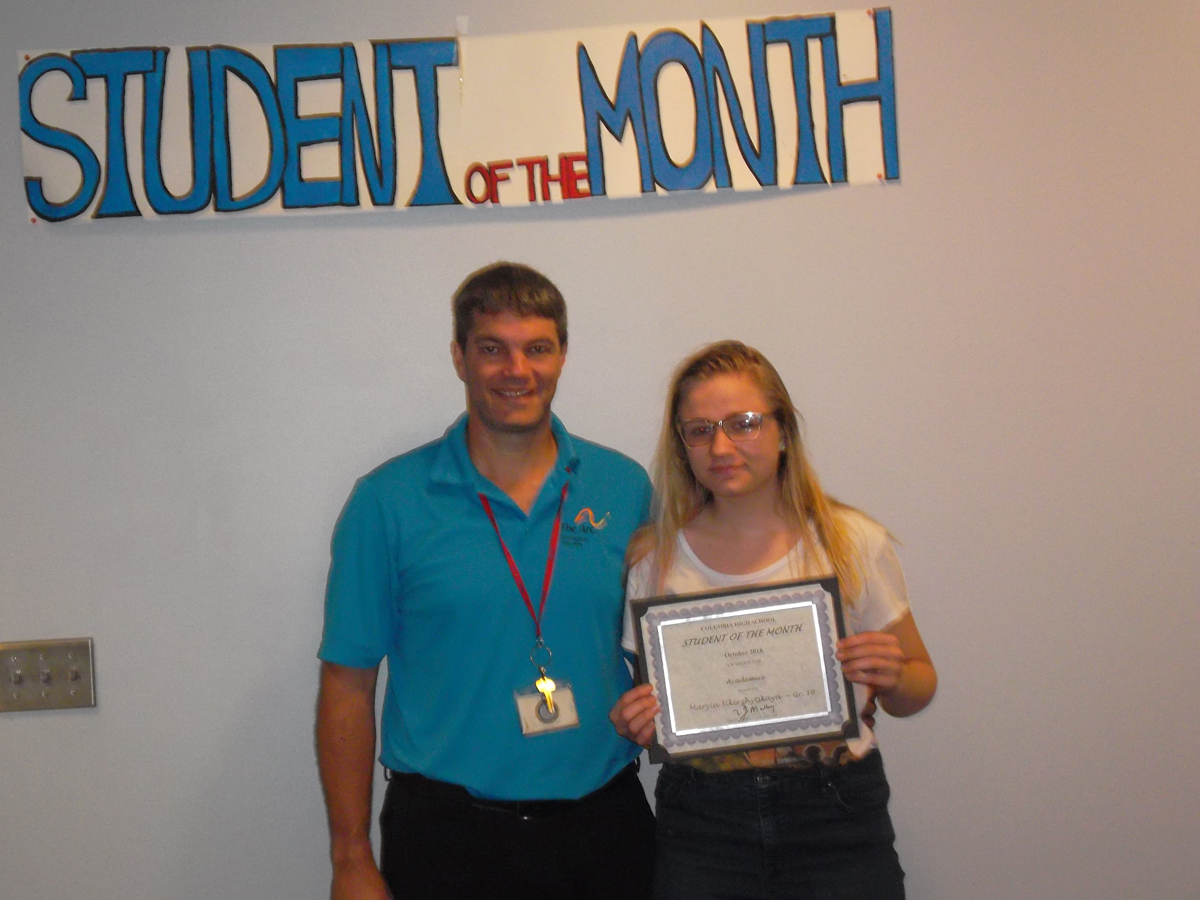 Maryia Sikirzhytskaya - Student of the Month