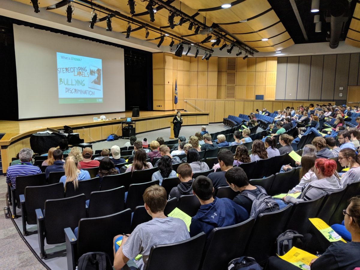 Mental health literacy assembly at Columbia High School
