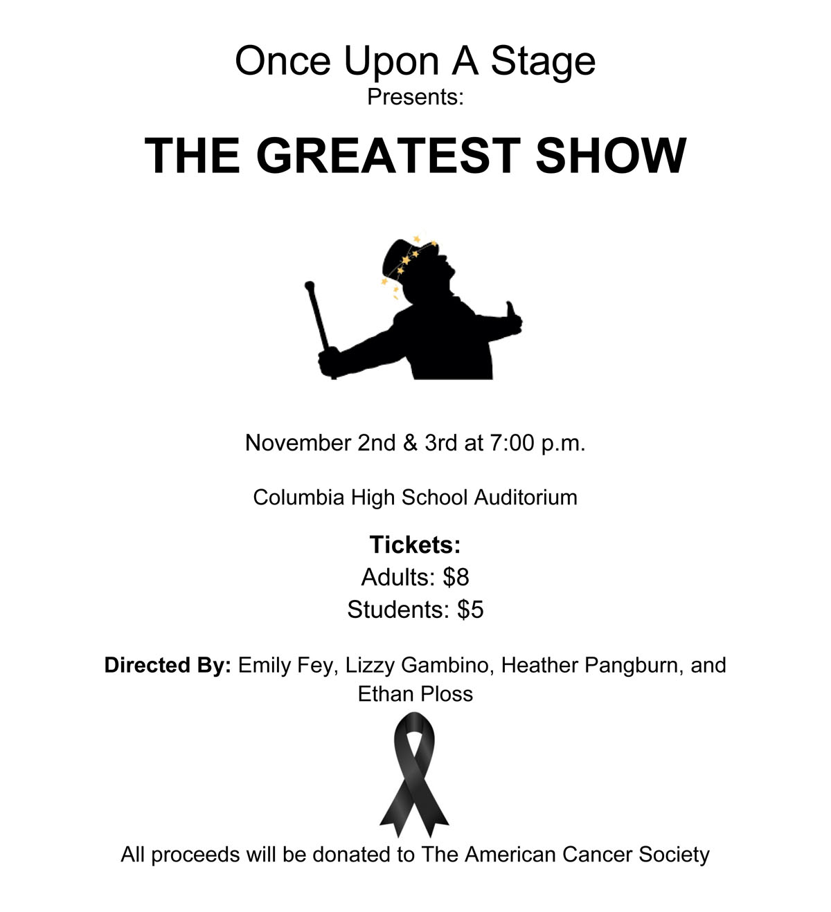 Once Upon a Stage flyer