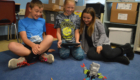 Students make their robot move.