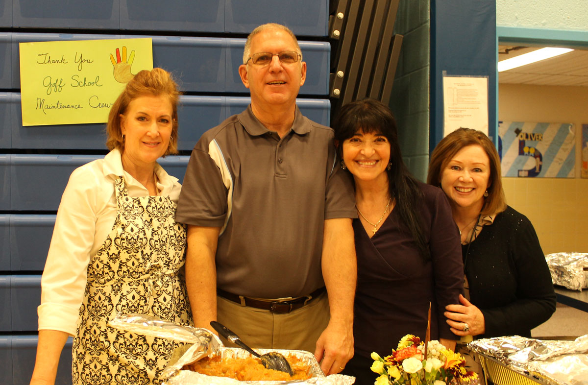 Staff volunteering at the Goff Thanksgiving Feast