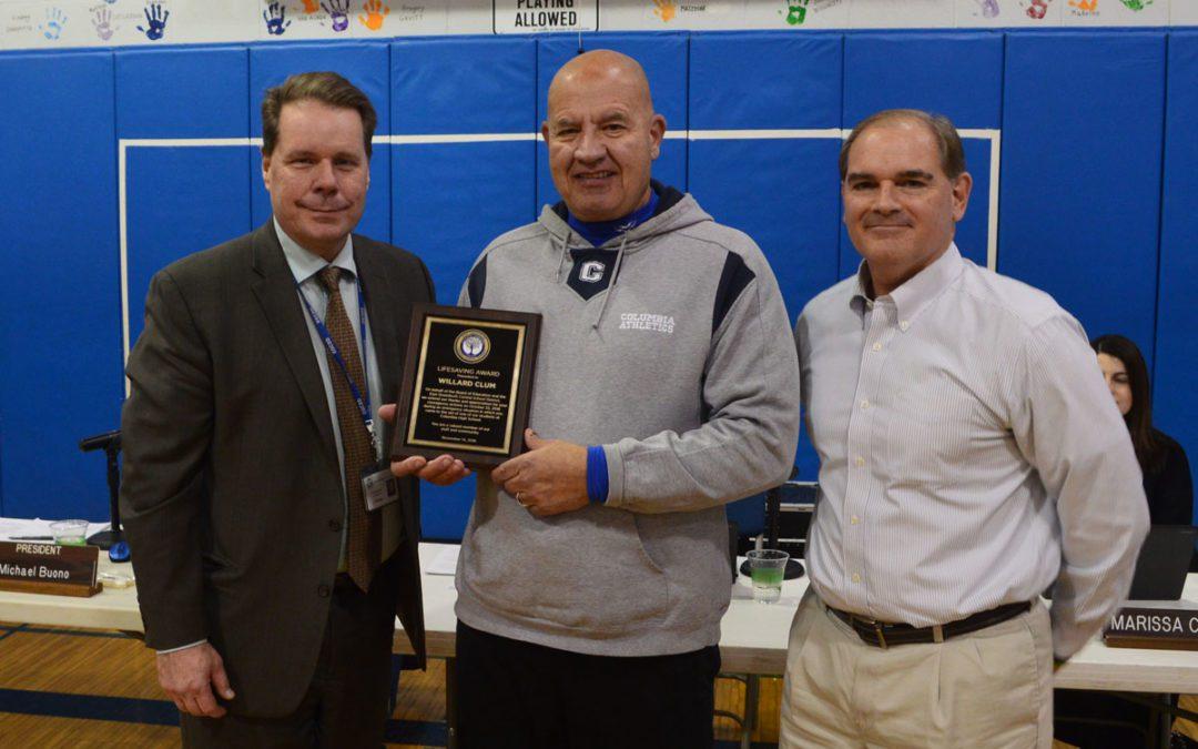 Columbia Monitor Bill Clum Receives Lifesaving Award