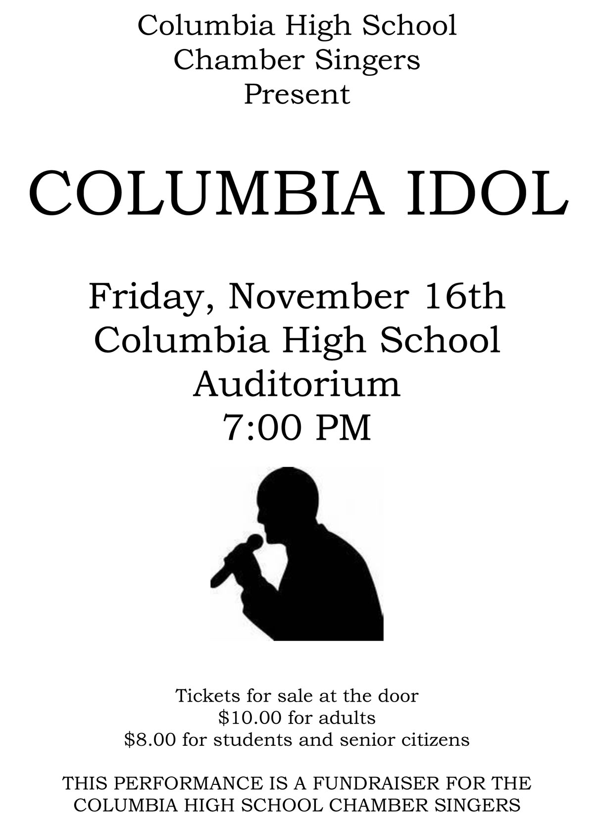 Columbia Idol poster