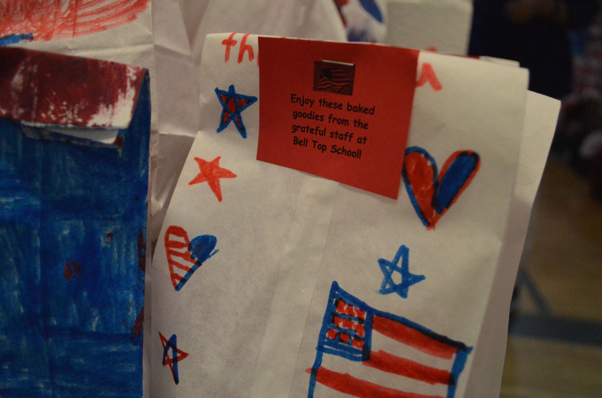 Goodie bags for veterans