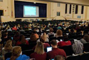 Teachers in professional development session