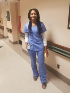 Michaela Davis-Pedlar at Samaritan Hospital in Troy.