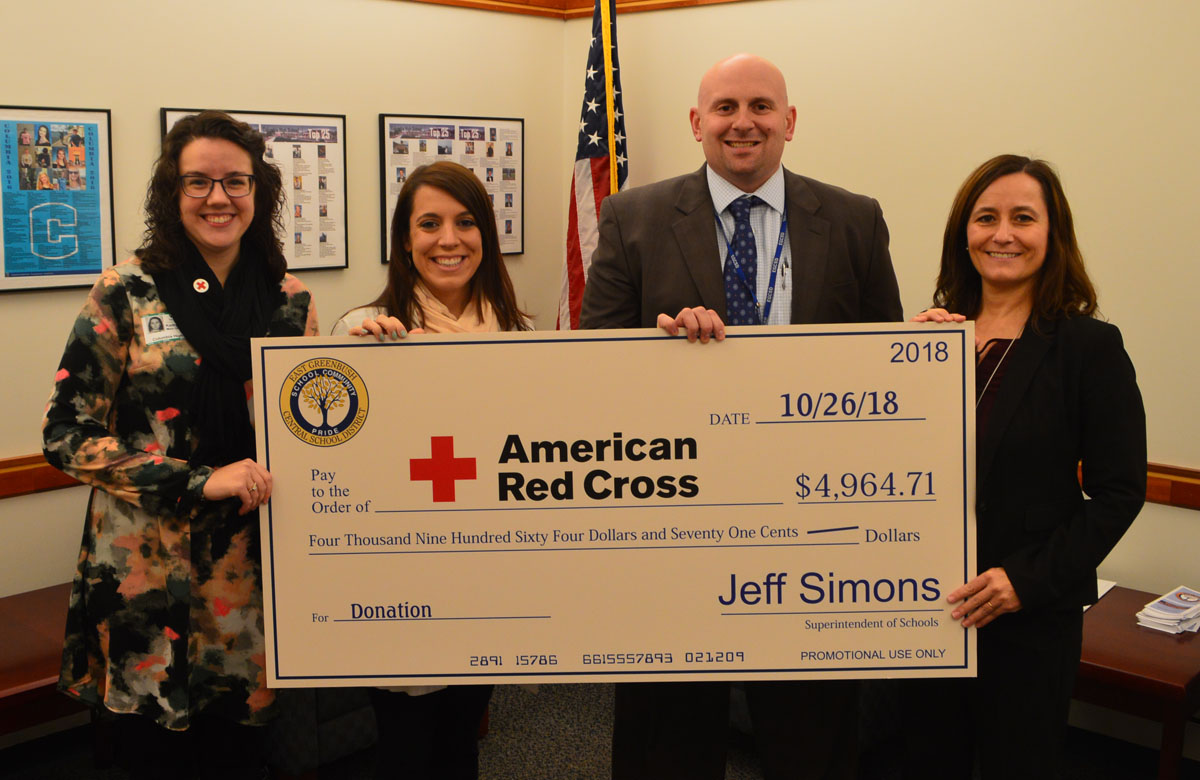 Check presentation to the American Red Cross
