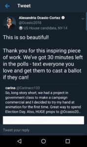 Screenshot of Ocasio-Cortez tweet