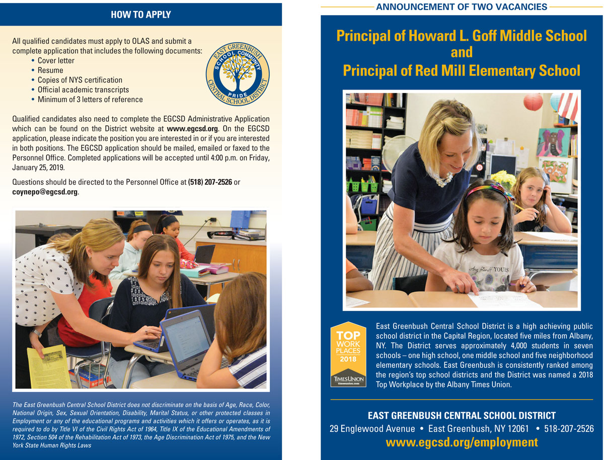 Goff and Red Mill Principal Job Brochure