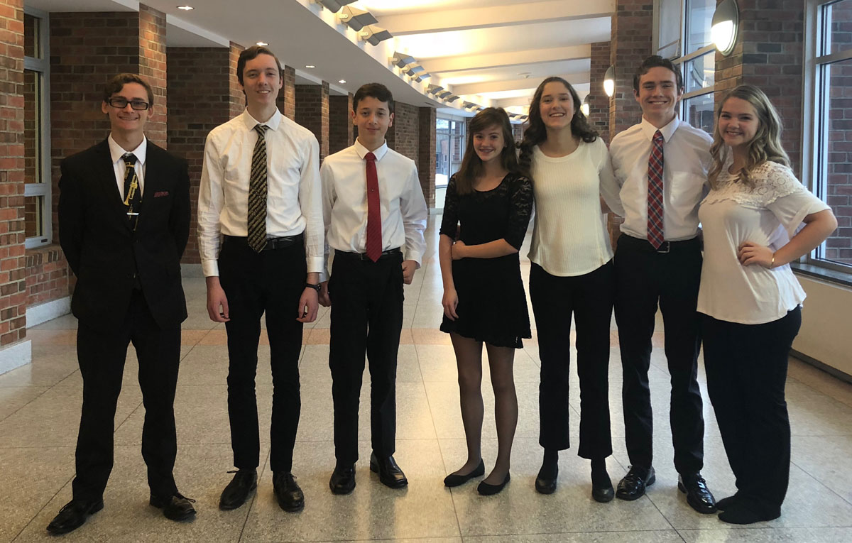Columbia Students at the Area All-State Music Festival in Saratoga Springs