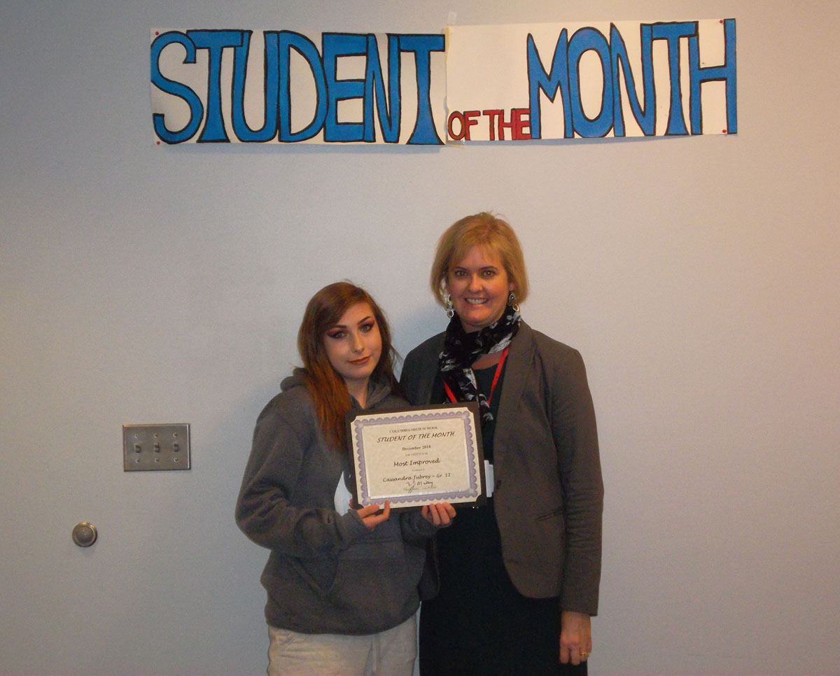 Cassandra Jubrey - Student of the Month