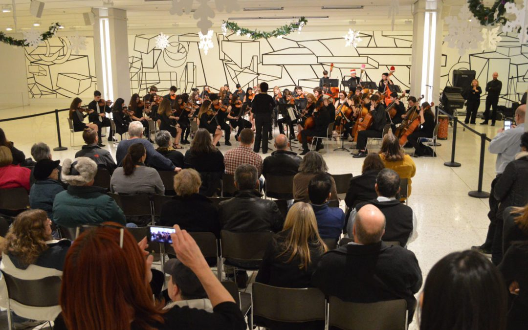 Columbia Musicians Play Holiday Concert at Empire State Plaza