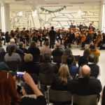 Columbia orchestra performing concert at Empire State Plaza