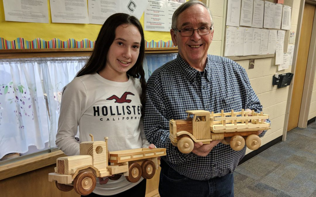 Student Donates Her Grandfather's Handiwork to CoNSERNS-U Christmas Store