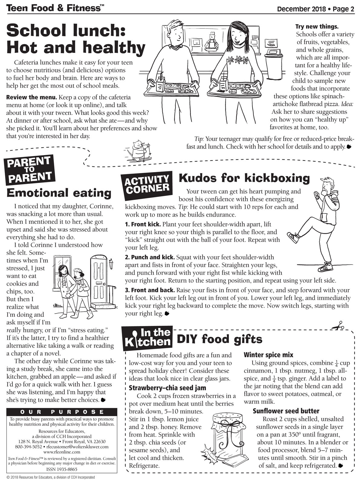 Food & Fitness newsletter December issue