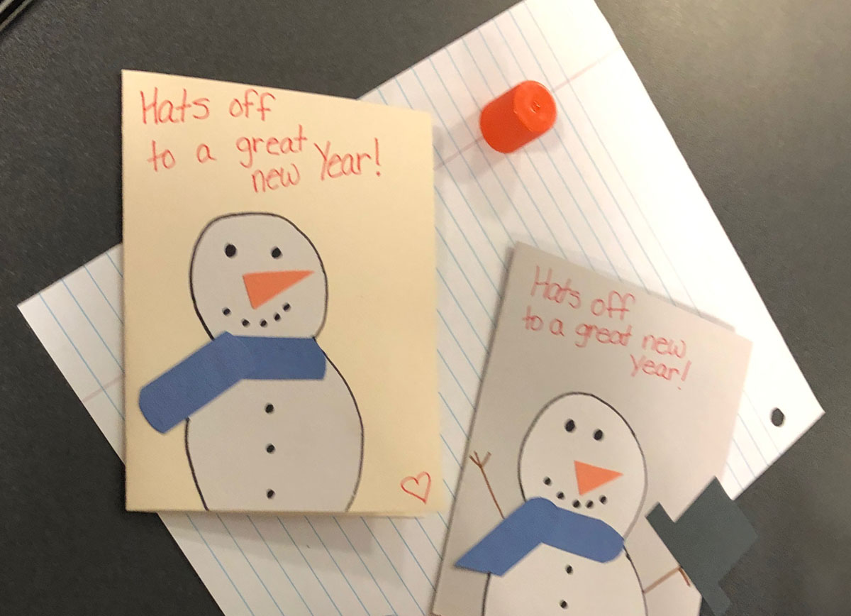Snowmen on holiday cards