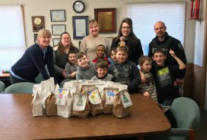 Green Meadow students and teachers visit Schodack police officers