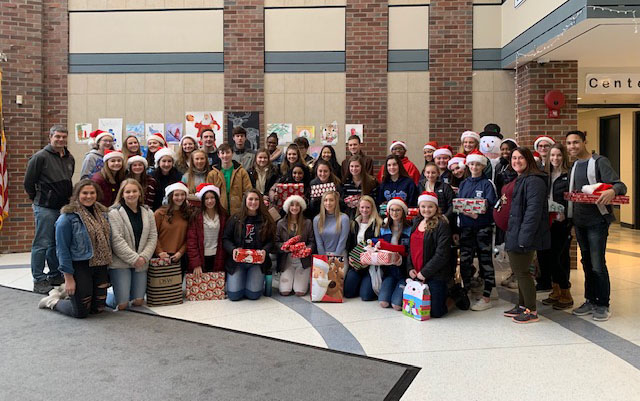 Students donate gifts