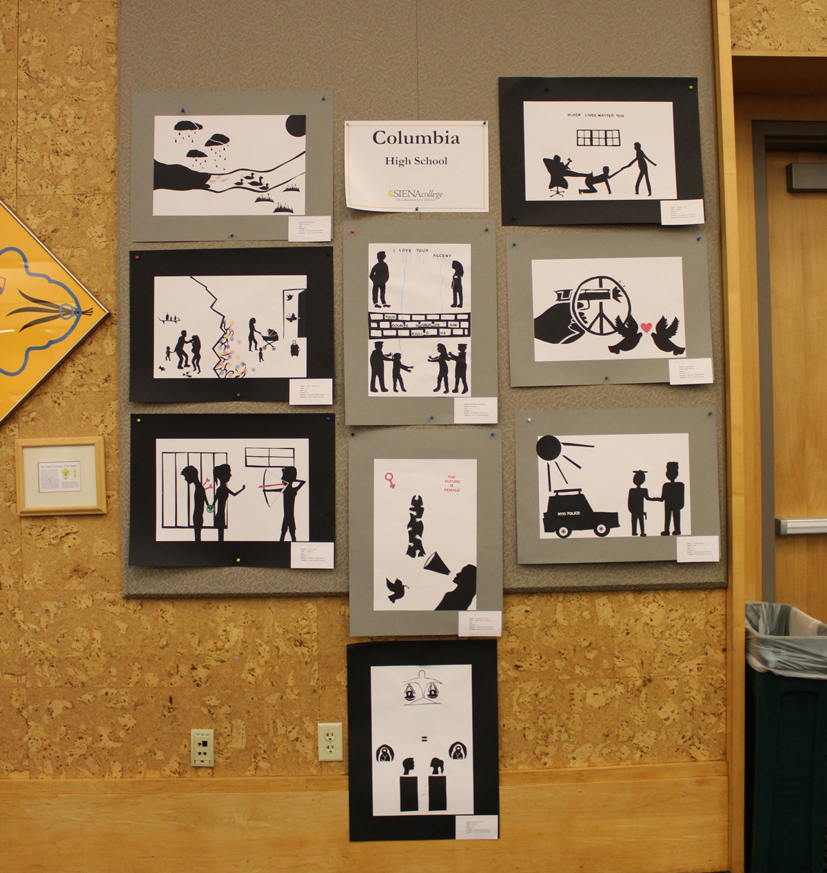 Artwork on display at MLK Art Exhibit