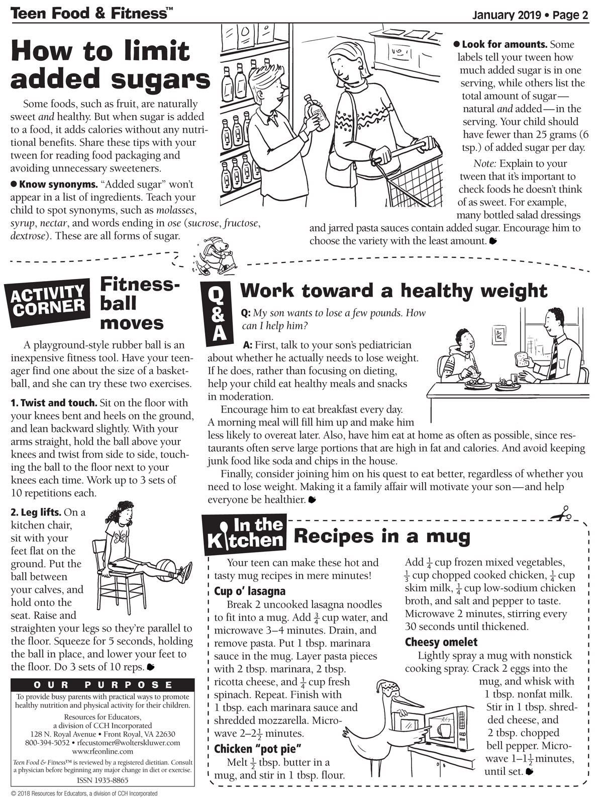 Food and Fitness Newsletter January 2019 page 2