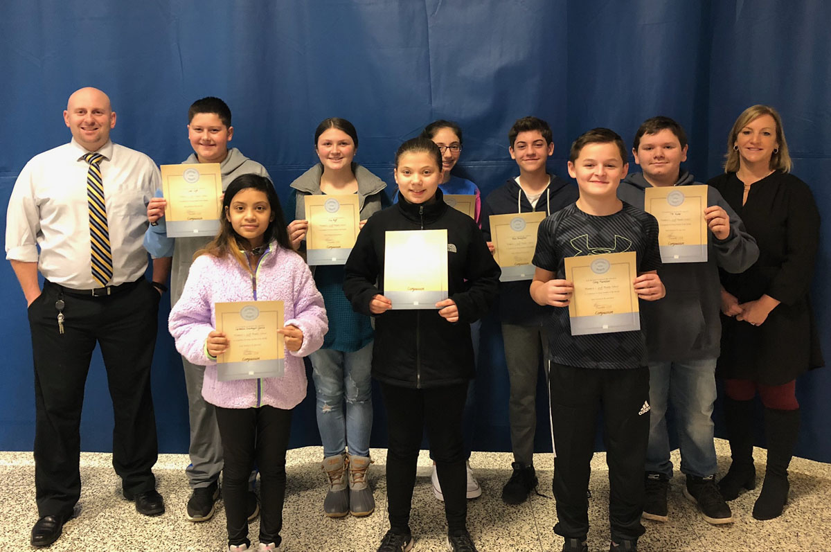 Goff 7th Grade Students of the Month