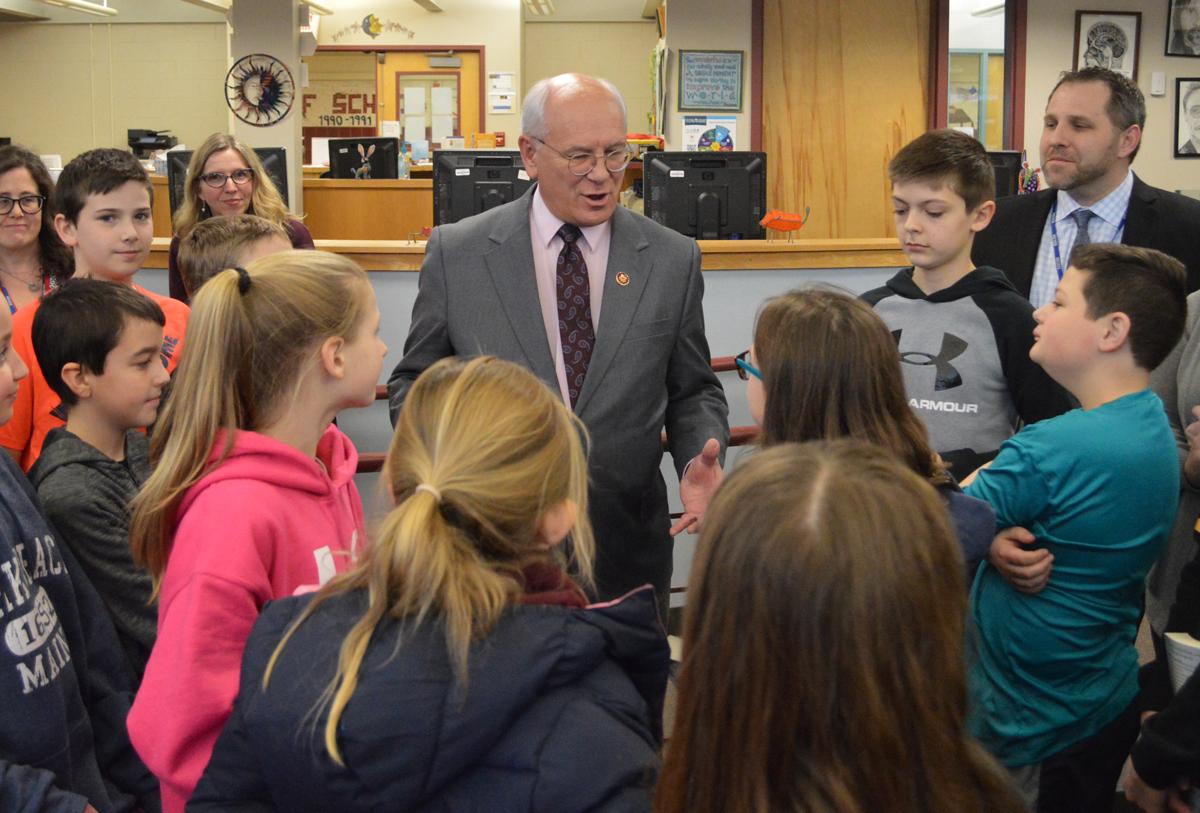 Congressman Tonko speaks with Goff Middle School students