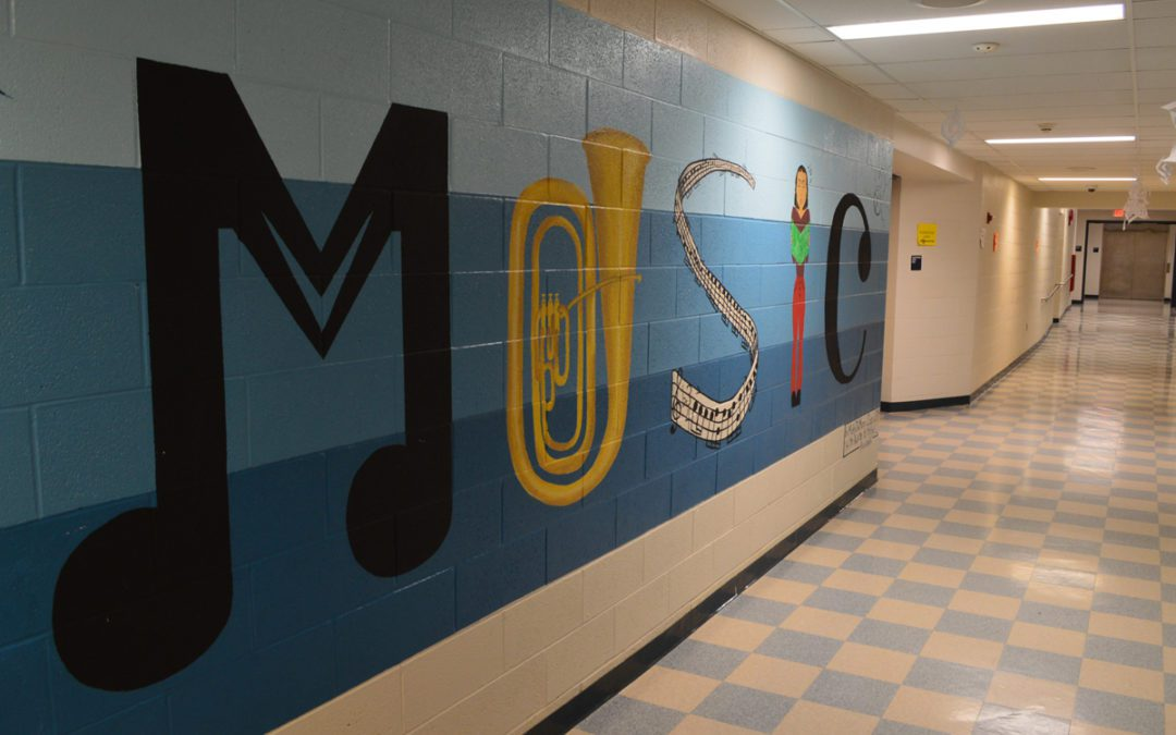 Student Brightens Columbia Hallways with Colorful Murals