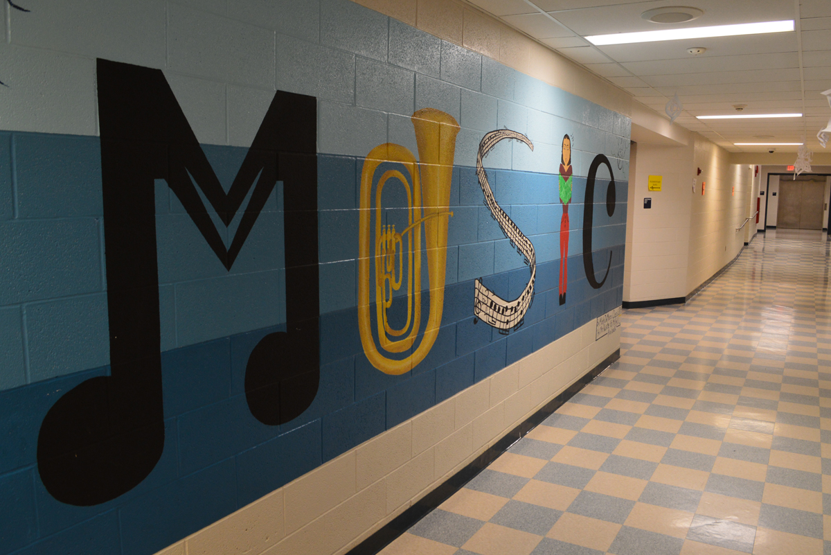 Music mural at Columbia