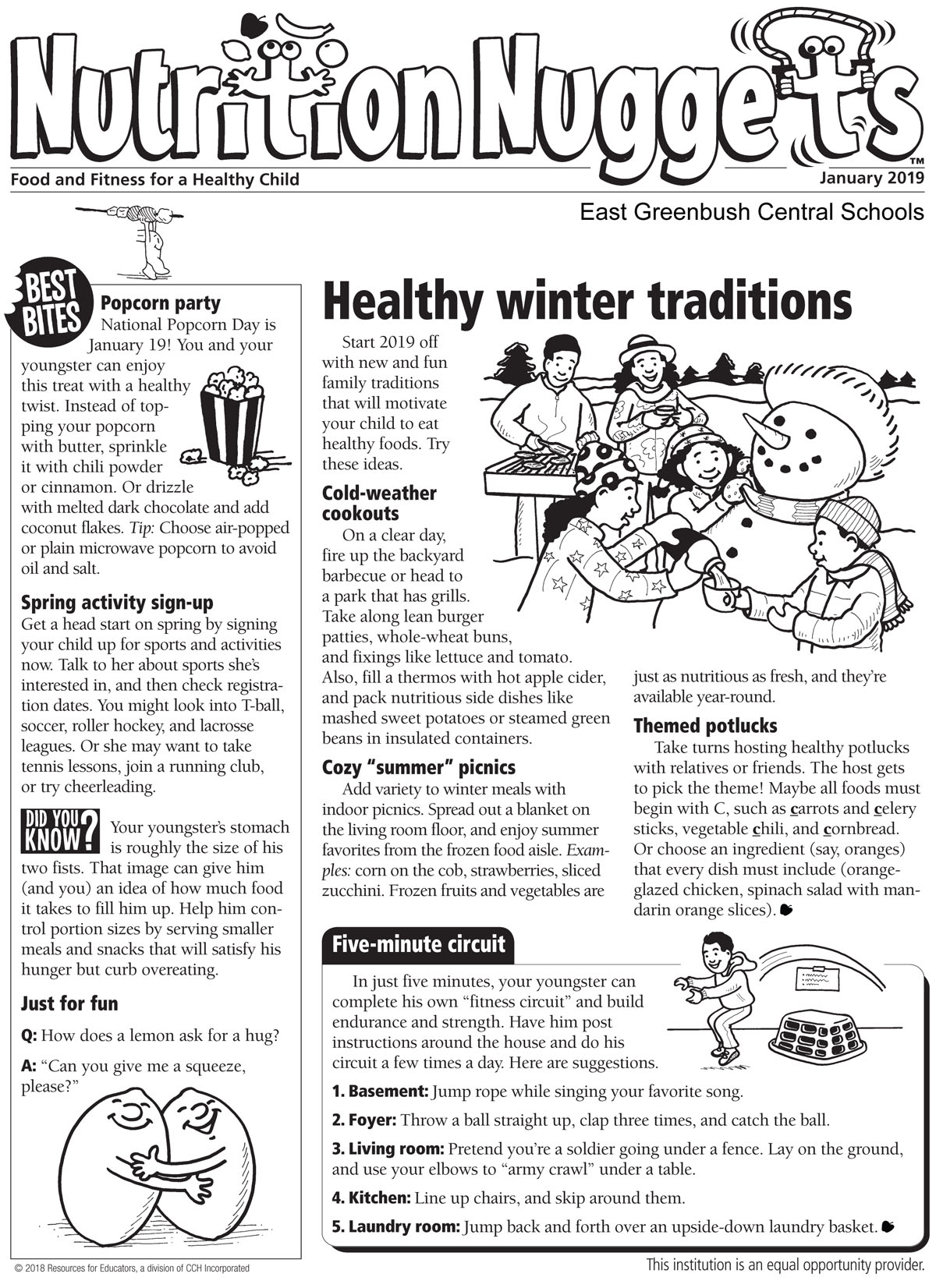 Nutrition Nuggets January 2019 page 1
