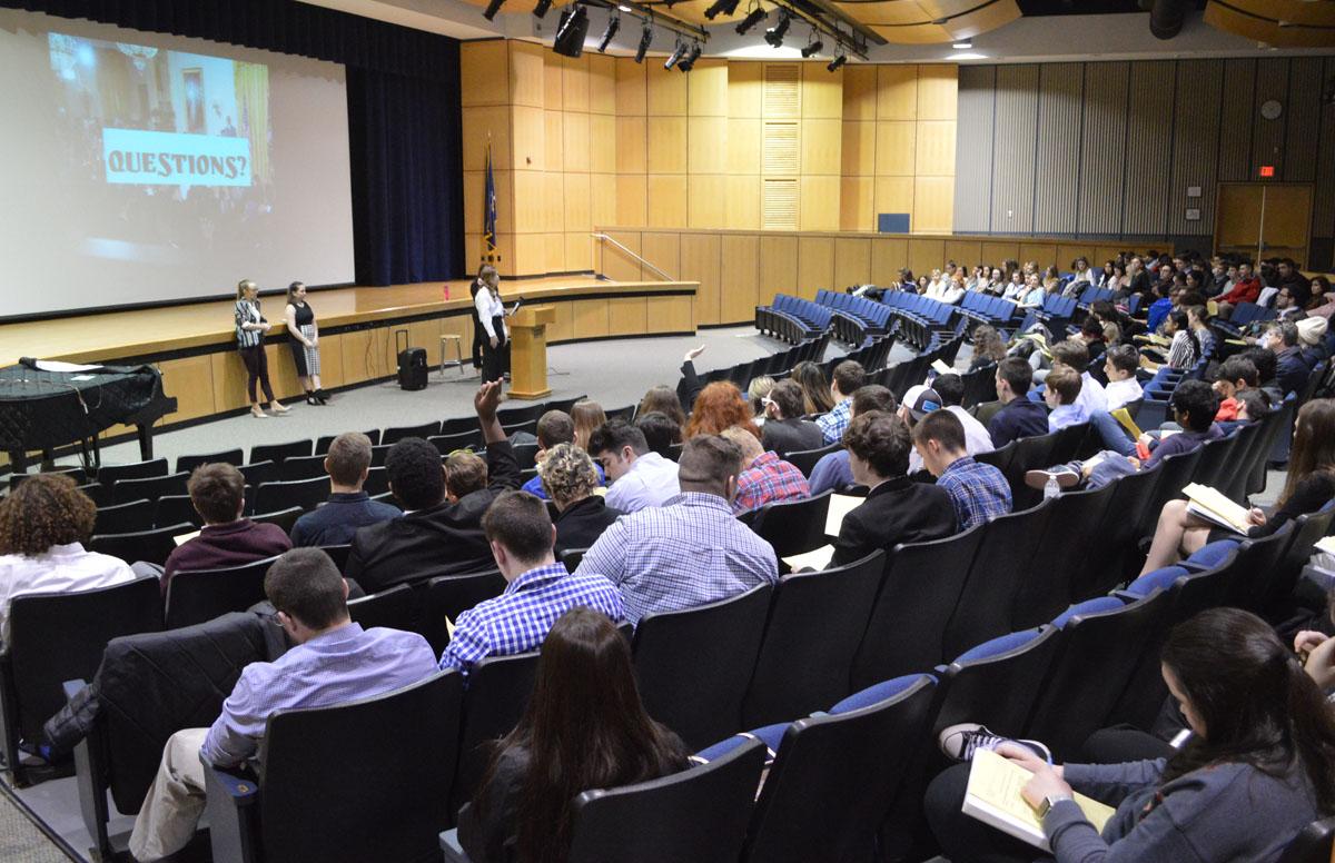 Students give presentation at Legislative Day