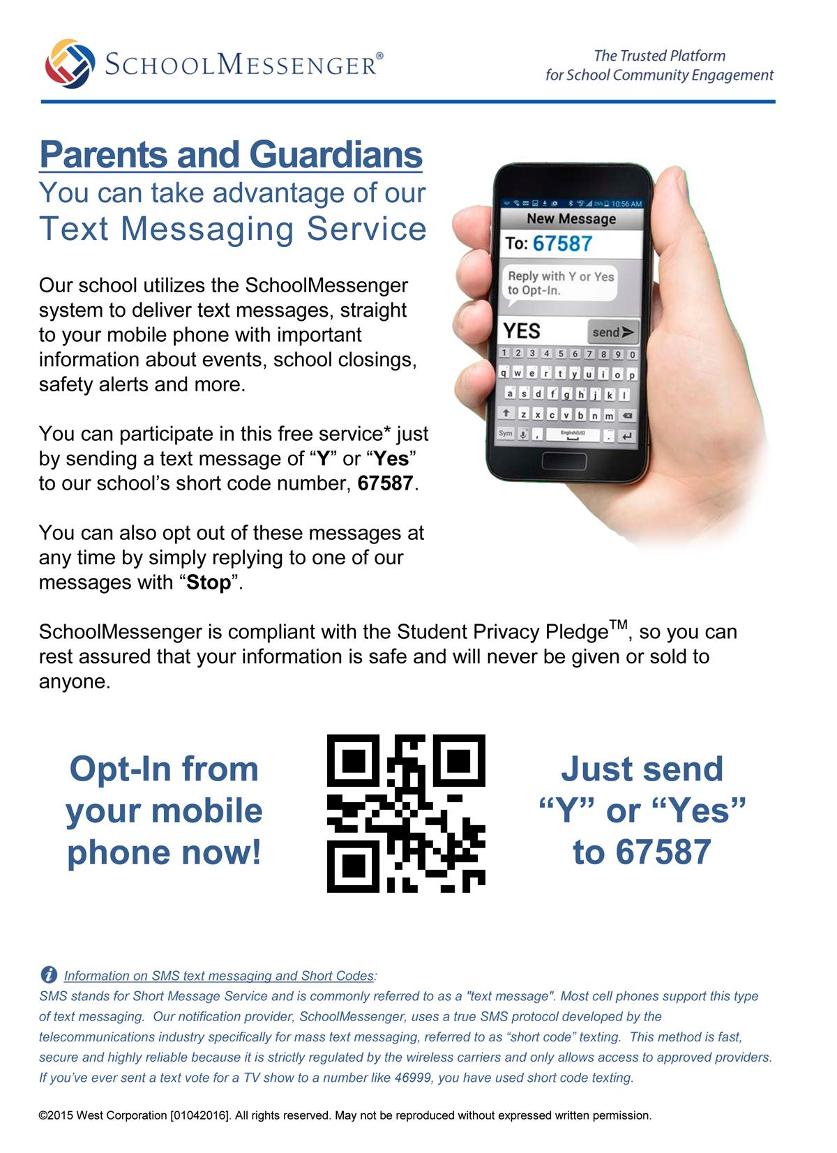 SchoolMessenger SMS Flyer