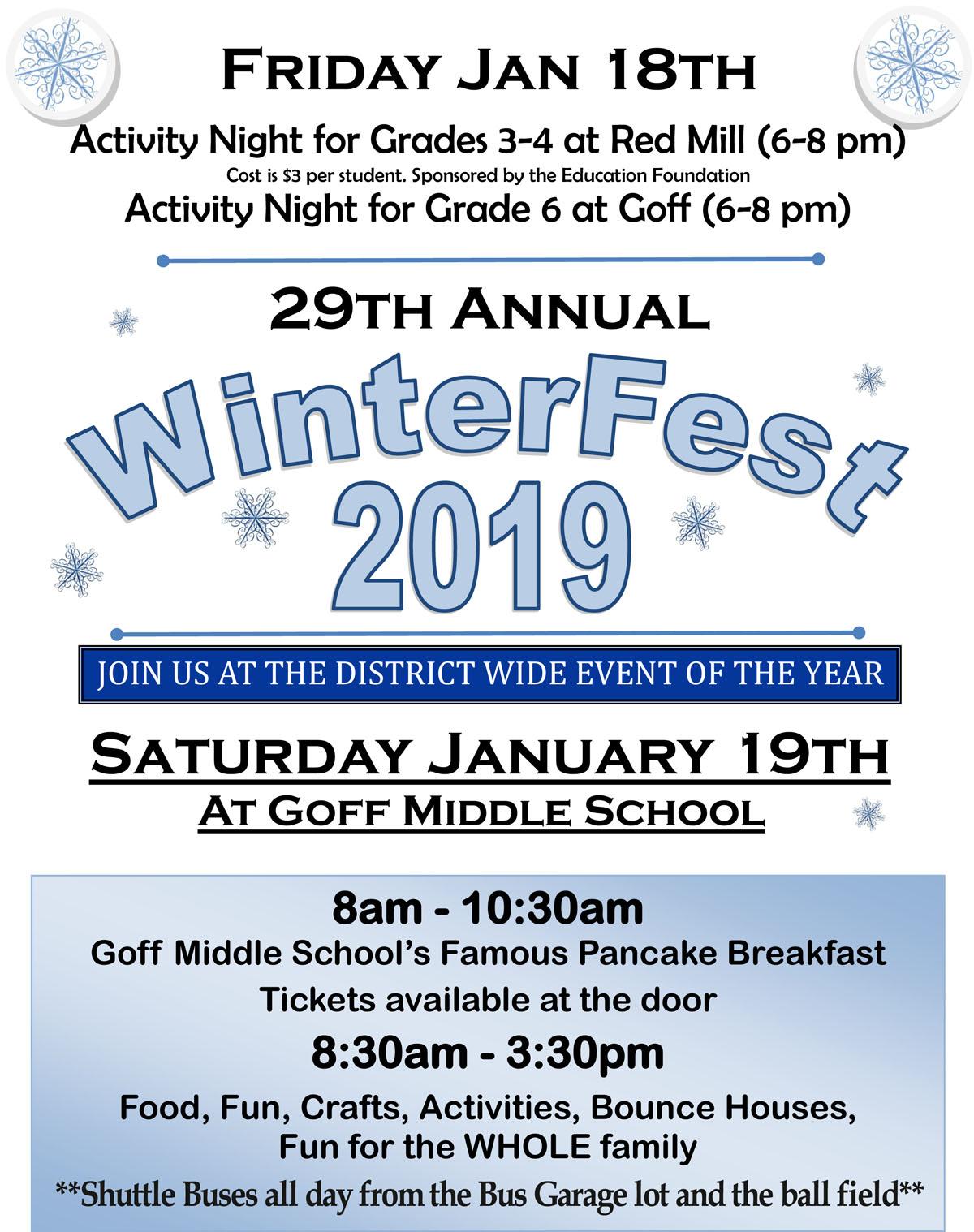 WinterFest 2019 flyer