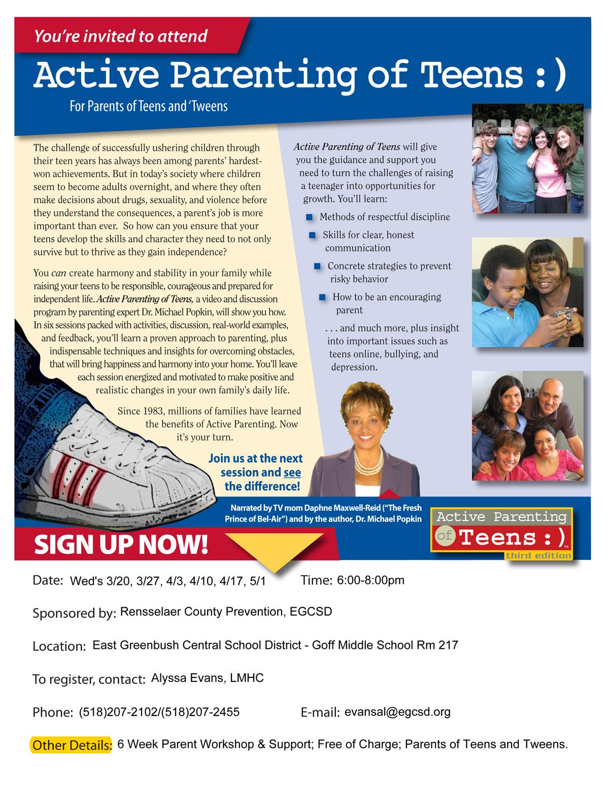 Active Parenting Workshop flyer