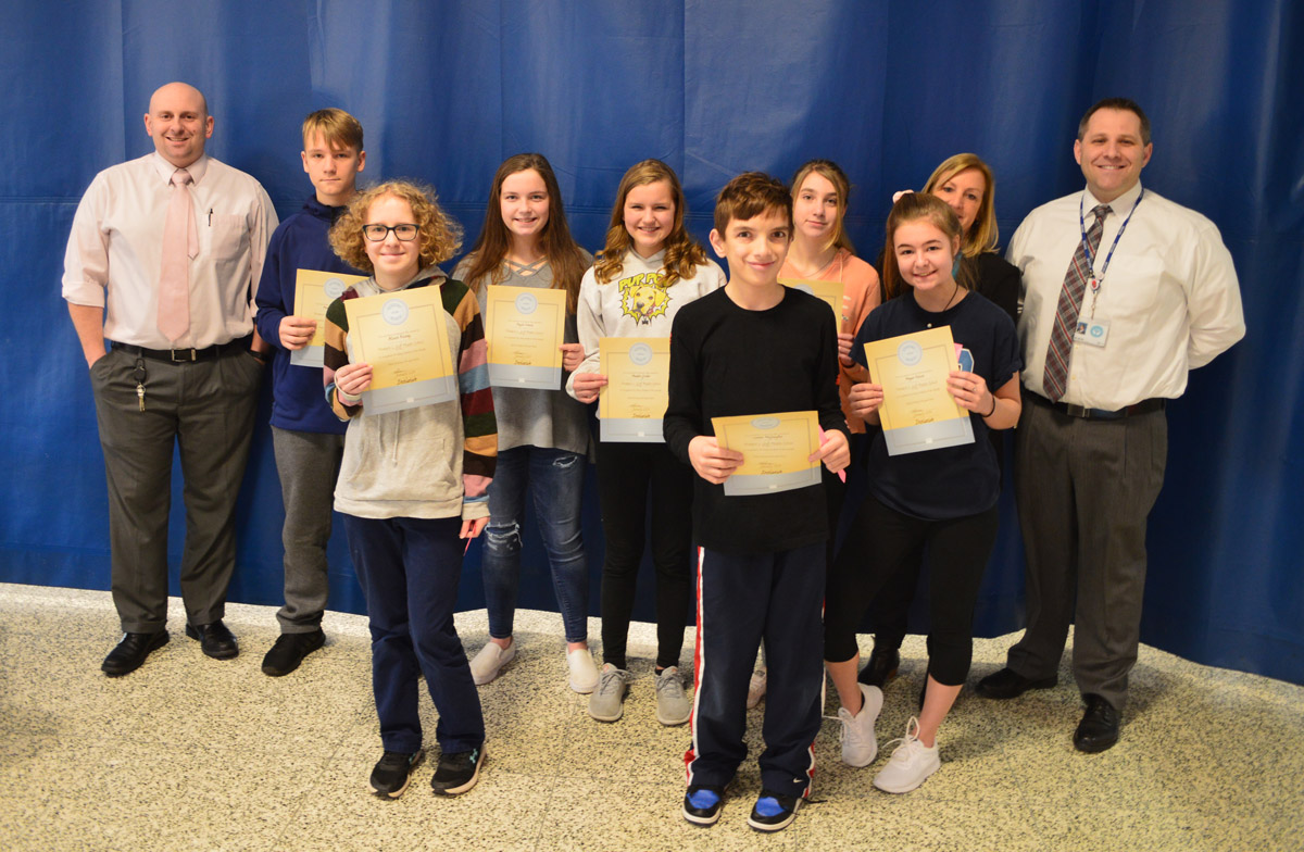 8th Grade Goff Students of the Month