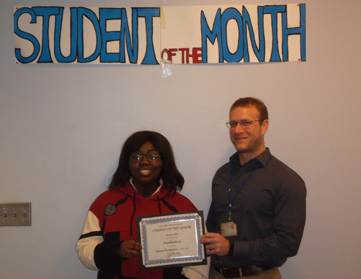 Alexis Thompson - Student of the Month