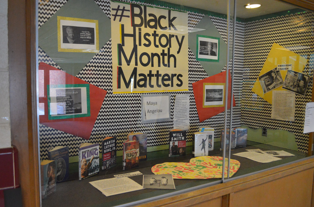 Black History Month display case