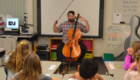 Cellist from Bridge Arts Ensemble program