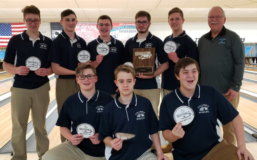 Columbia Boys' Varsity Bowling Wins Section 2 Championship