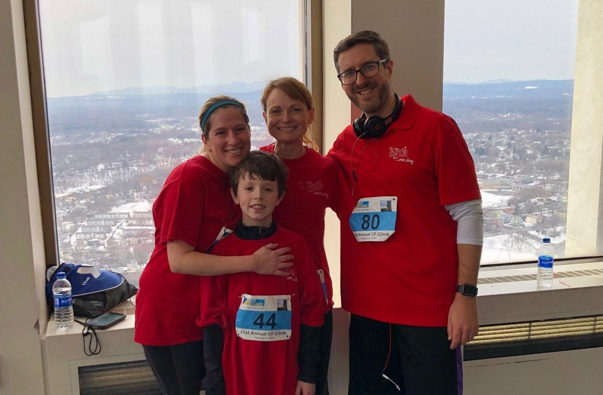 EGTA team at fundraiser race in Corning Tower